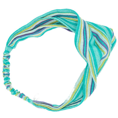 Handmade Boho Headband Teal Green