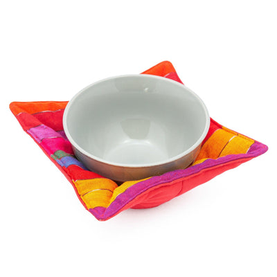 Microwave Bowl Cozy - Rainbow