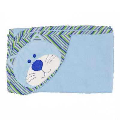 Cat Hooded Towel - Blue