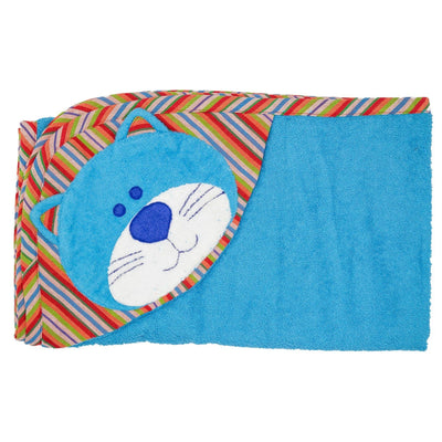 Cat Hooded Towel - Turquoise