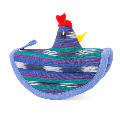 Chicken Pot Holders - Blue