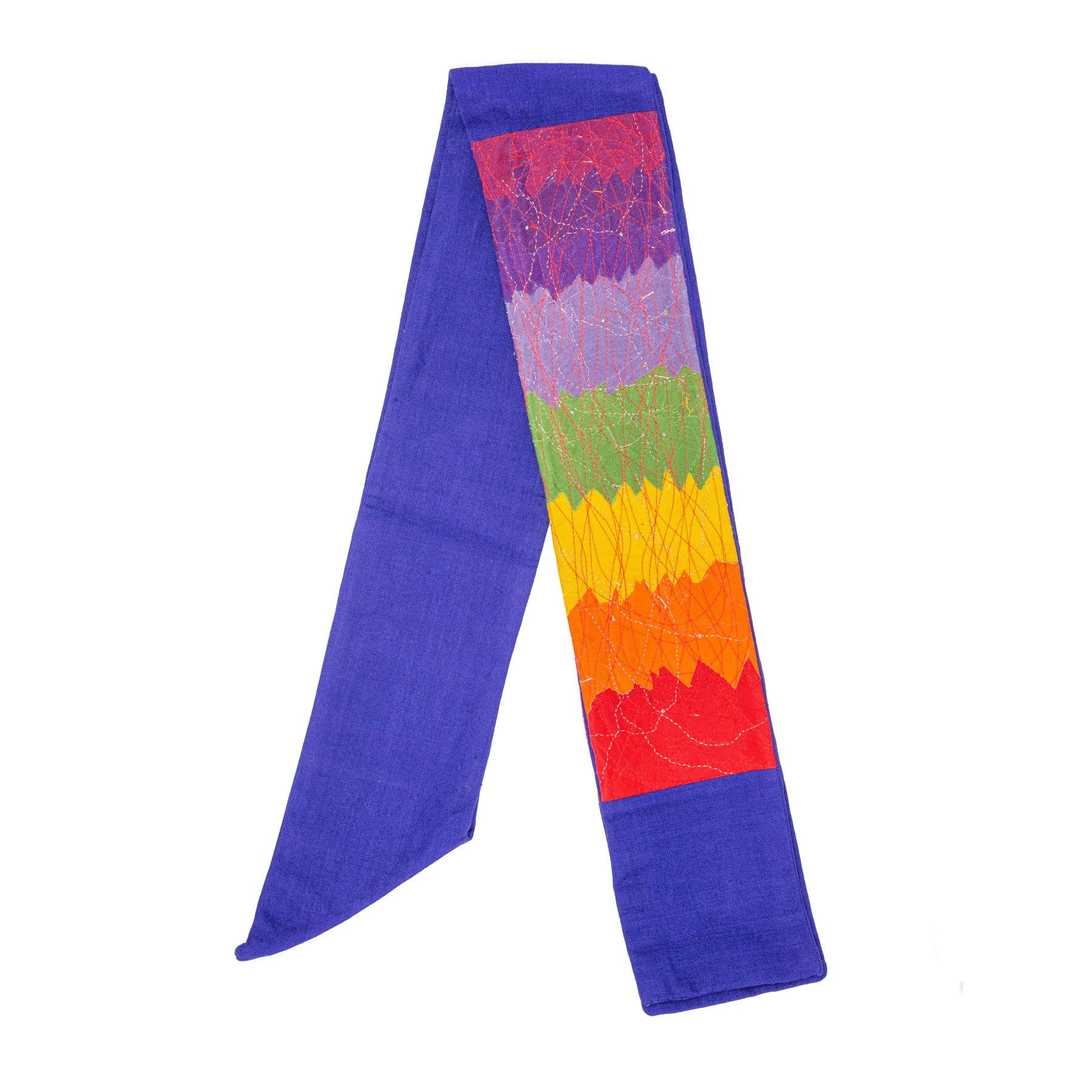 Rainbow and Blue Contemporary Clerical Stole