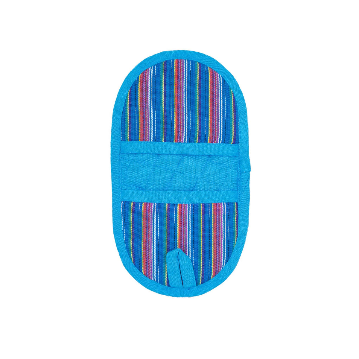 Blue Rainbow Double-Ended Oval Potholder