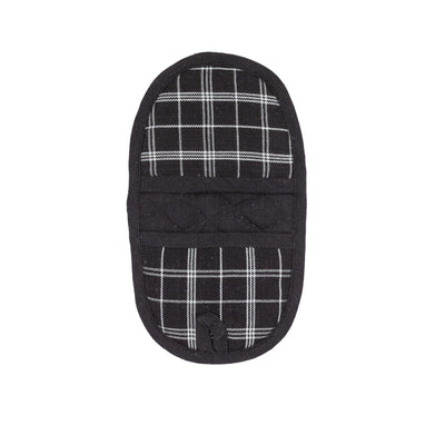 Double-Ended Oval Pot Holder - Black