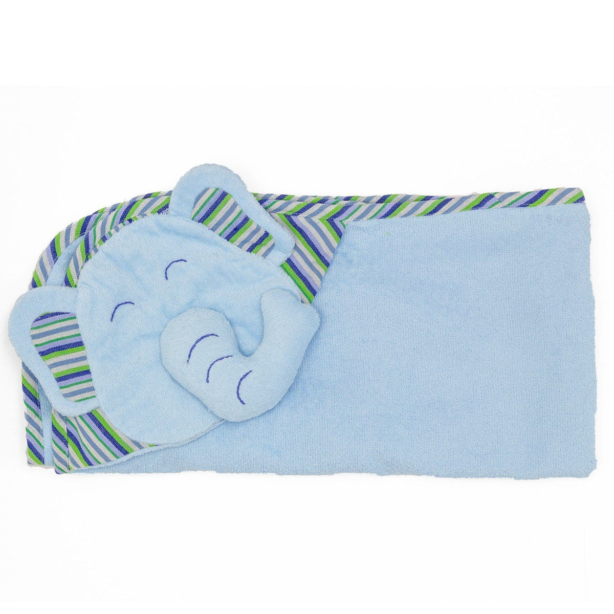 Kids Hooded Elephant Towel - Blue