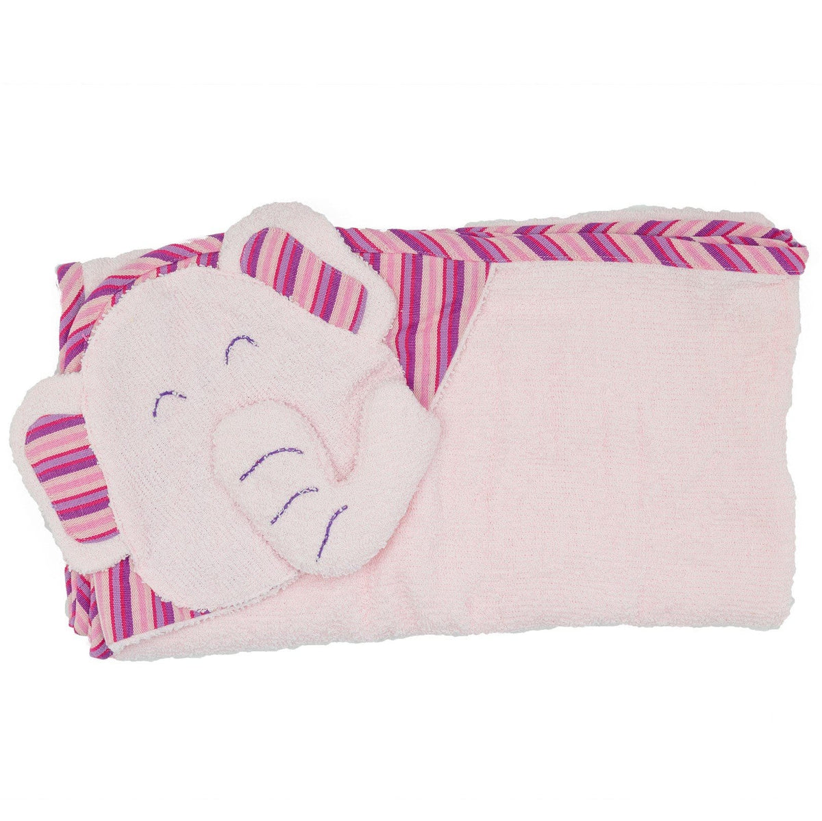 Kids Hooded Elephant Towel - Pink