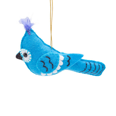 Felt Bluejay Ornament