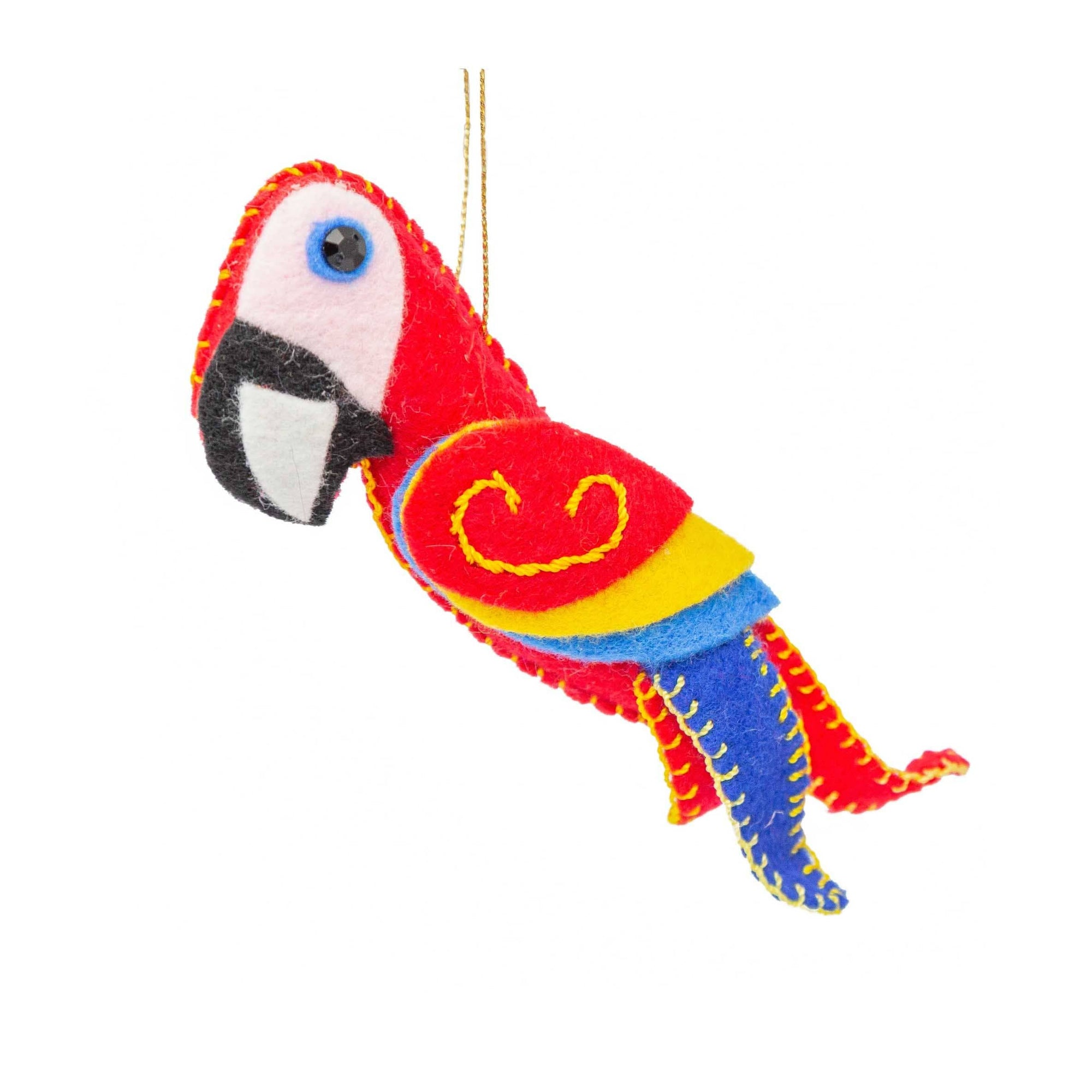 Felt Red Macaw Ornament