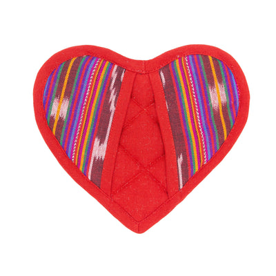 Festive Heart Pot Holder