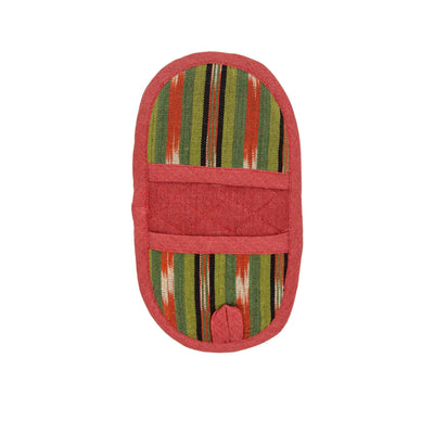 Fair Trade Handmade Double Ended Potholder Olive Terracotta