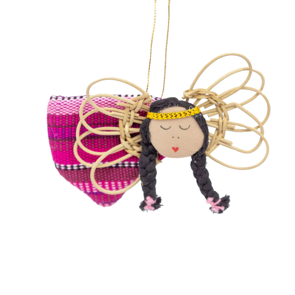 Flying Angel Ornament - Pink