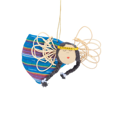 Flying Angel Ornament - Teal