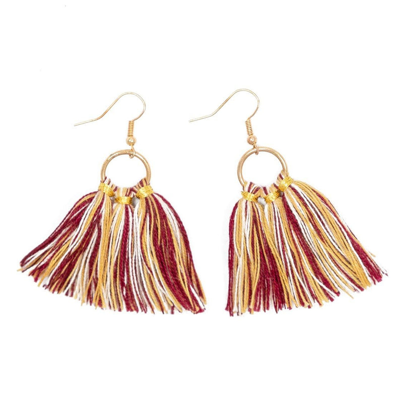 Violet Fringe Earrings