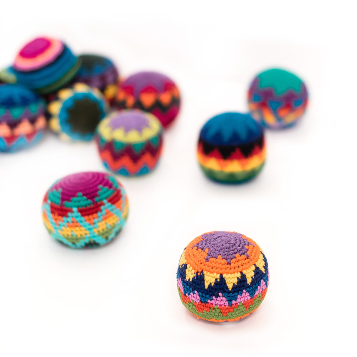 Group of Fair Trade Colorful Hacky Sack