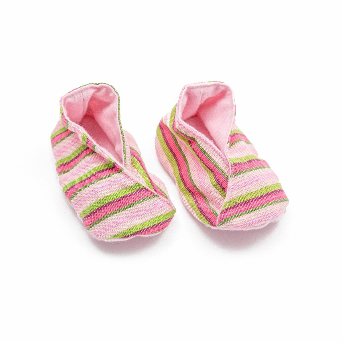 Fair Trade Handwoven Baby Booties Pink