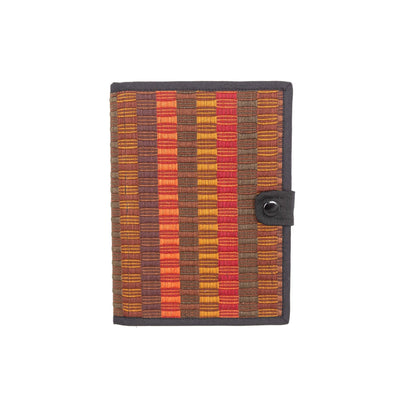 Fair Trade Honeycomb Notebook Red Brown
