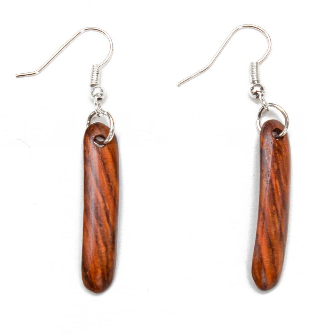 Fair Trade Wood Linear Earrings