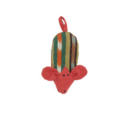 Fair Trade Handmade Skillet Handle Holder Mouse Olive Terracotta