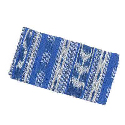 Fair Trade Organizing Clutch Wallet Blue