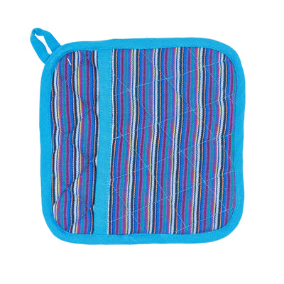 Blue Rainbow Pocket Potholder