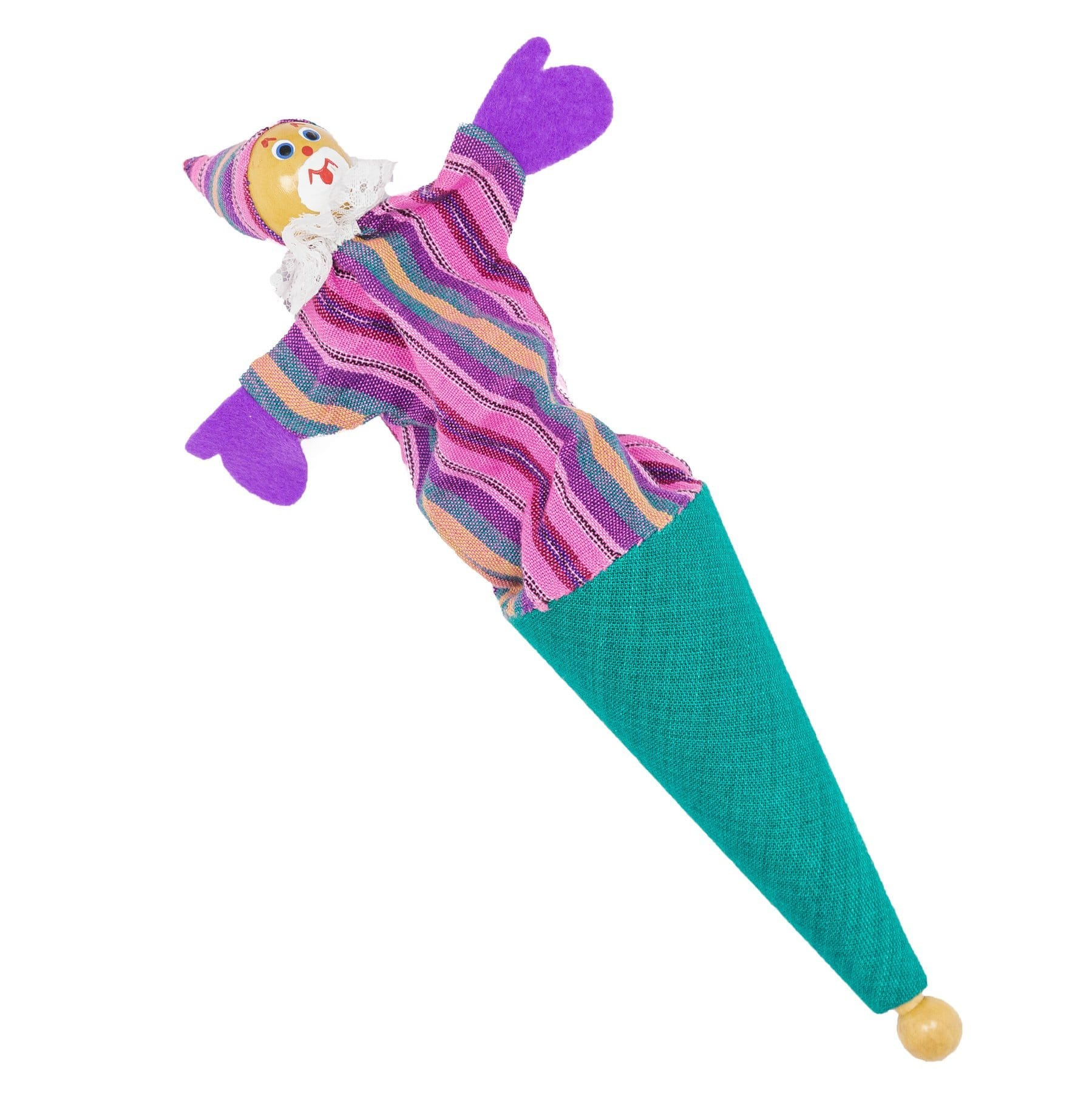 Clown Pop Up Toy - Turquoise