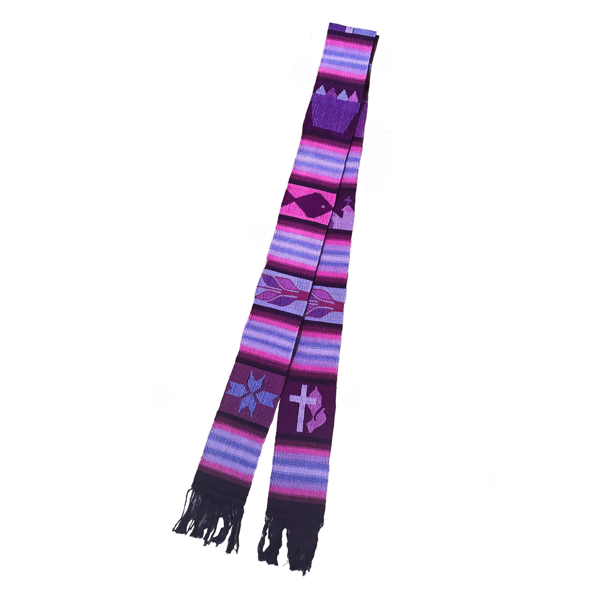 Purple Tapestry Clerical Stole
