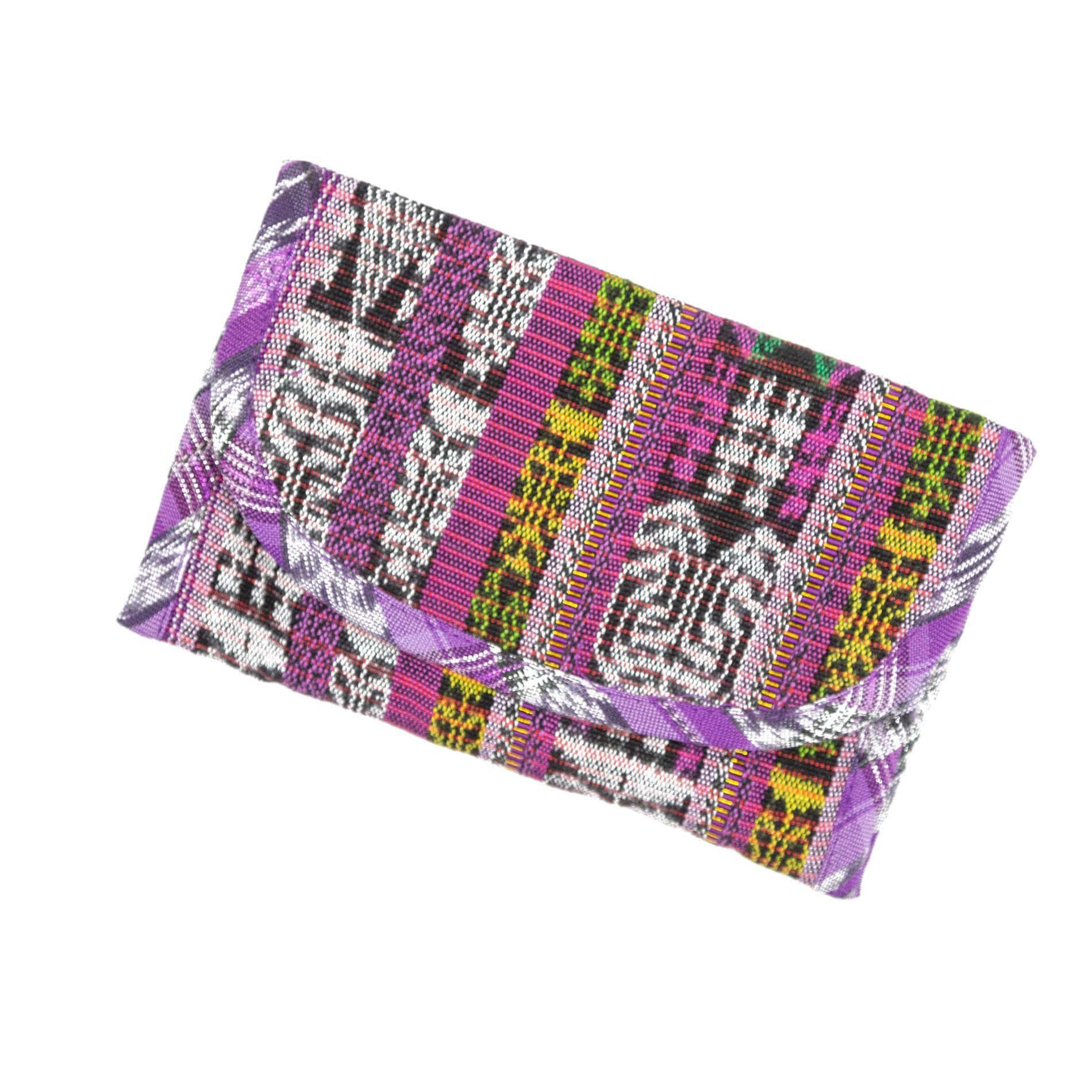 Guatemalan Fair Trade Recycled Corte Wallet Pink