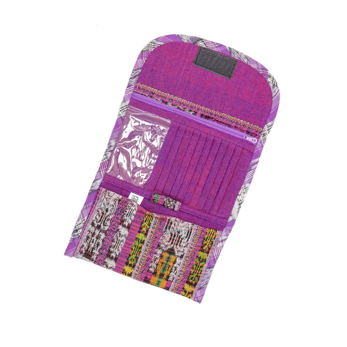 Guatemalan Fair Trade Recycled Corte Wallet Interior