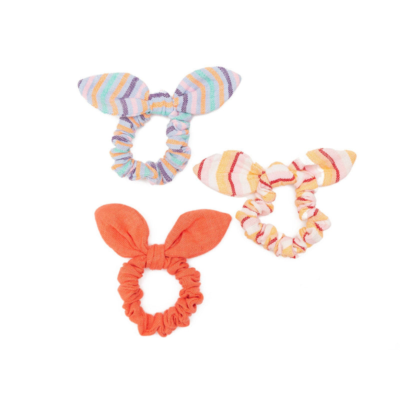 Tie Scrunchies - Set of 3