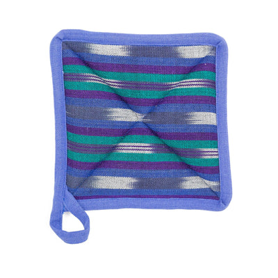 Fair Trade Handmade Pot Holder Blue
