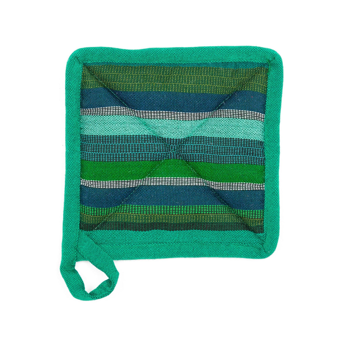 Fair Trade Handmade Pot Holder Teal