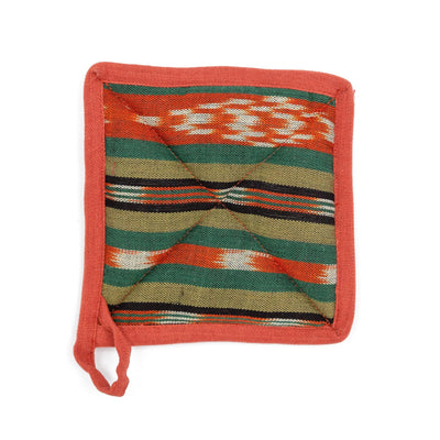 Fair Trade Handmade Pot Holder Olive Terracotta