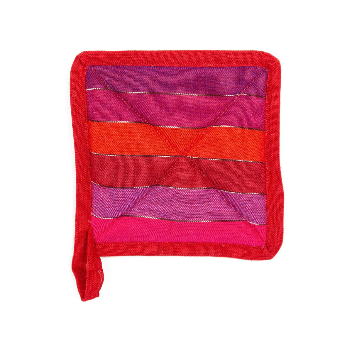 Fair Trade Handmade Pot Holder Rainbow