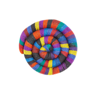 Fair Trade Small Spiral Heatable Trivet Bright
