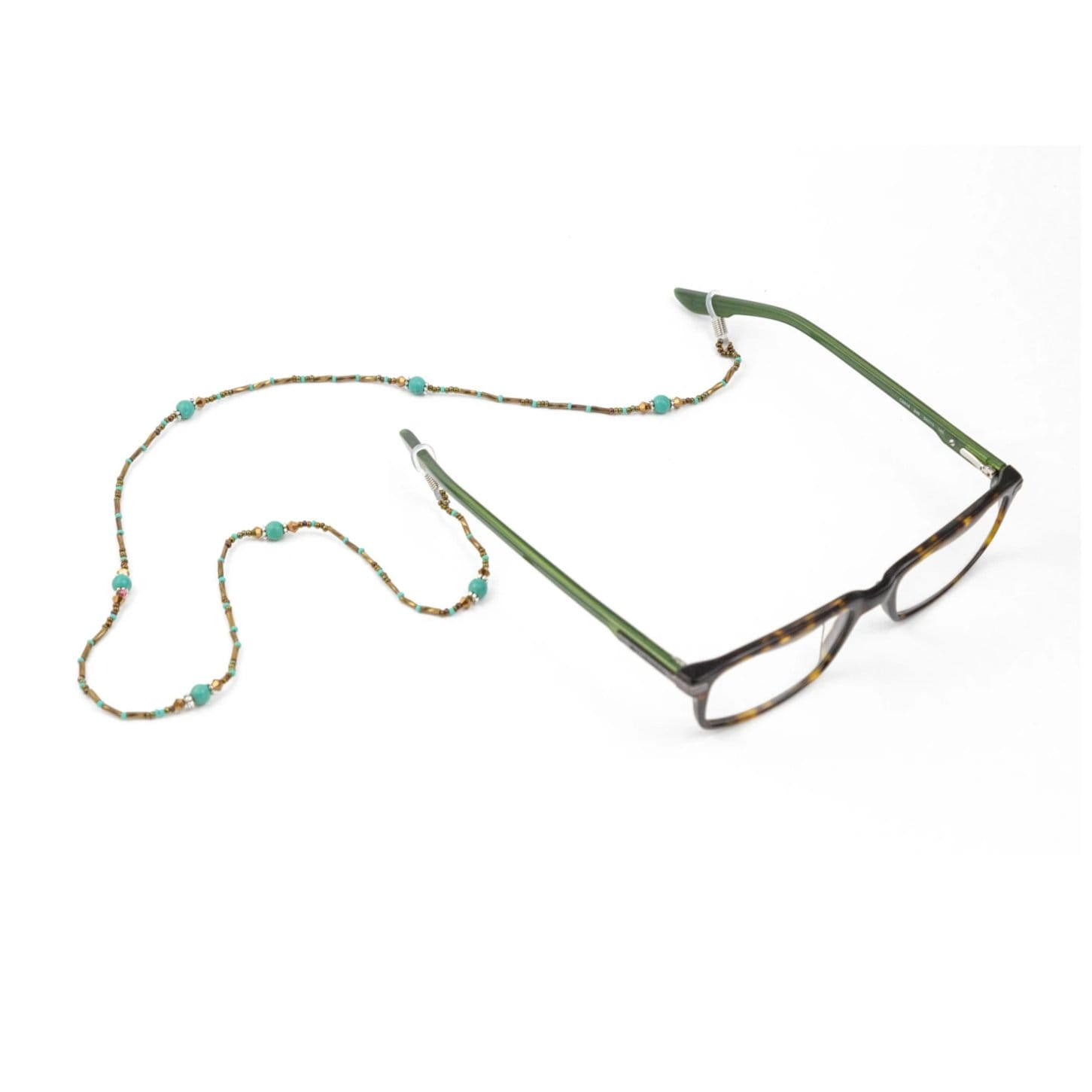 Fair Trade Eyeglass Holder Turquoise Beads