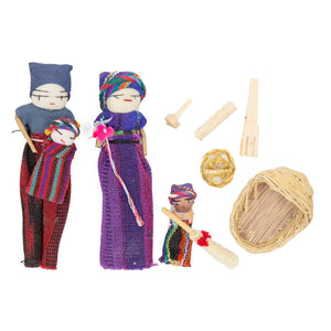 Mayan Family Worry Doll Playset