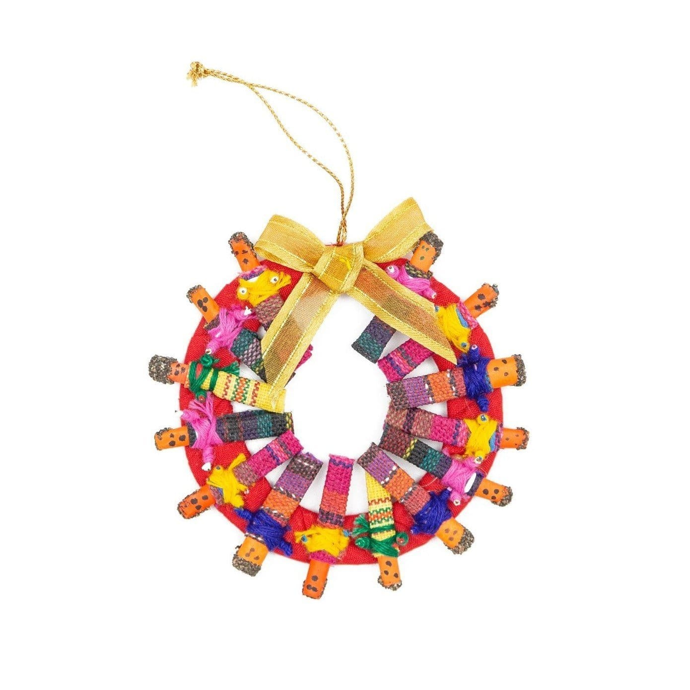 Worry Doll Wreath Ornament