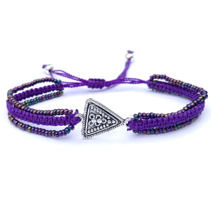 Triangle Triple-Strand Medallion Bracelet