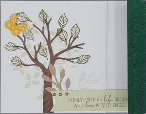 Family - where life begins and love never ends Greeting Card