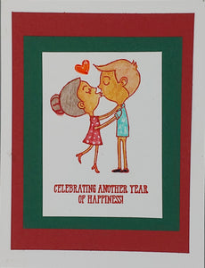 Celebrating Another Year of Happiness Greeting Card