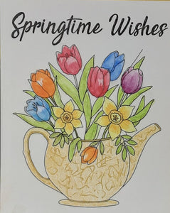 Springtime Wishes Greeting Card