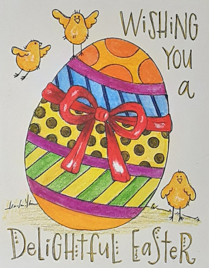 Wishing You a Delightful Easter Greeting Card