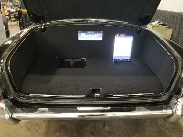 Johnny Cash Rolls-Royce with Tesla systems - trunk with protective covers off