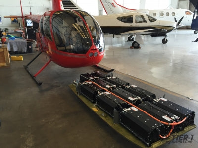 Record setting Robinson 44 Helicopter converted to Electric