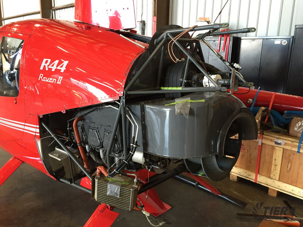 Robinson 44 Helicopter conversion to electric - before removing Lycoming engine