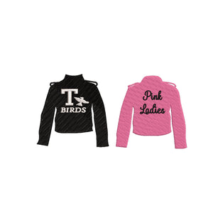Grease Inspired Machine Embroidery Design. Pink Ladies and T-Birds Jackets 3 Designs