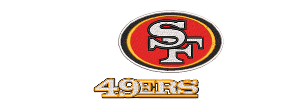 NFL San Francisco 49ers inspired Machine Embroidery design. 3 Designs Multiple sizes Filled and Applique