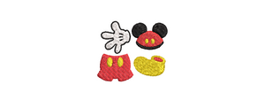 Disney Mickey Mouse inspired Machine Embroidery. Mini design