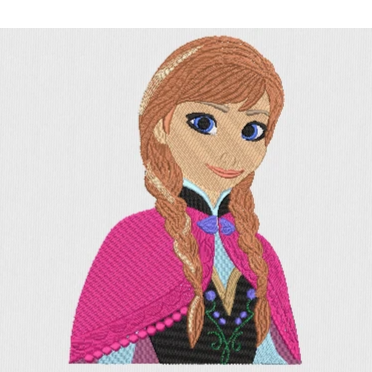 Disney inspired Machine Embroidery Files.  Princess Anna from Frozen. 8 Sizes.