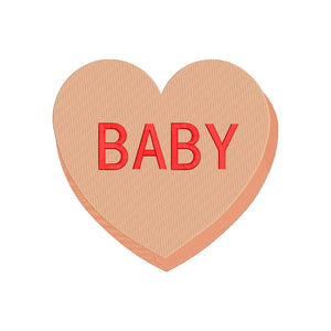 "Sweethearts Valentine Machine Embroidery Design. ""Baby"" 6 sizes"